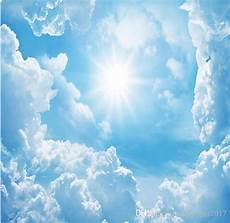 papel de parede 3d blue sky white clouds