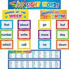 Sight Words Pocket Chart First 100 Sight Words Pocket Chart Cards