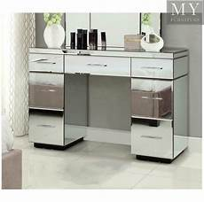 mirrored dressing table console 7 drawer mirror