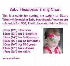 Foe Headband Chart Ani Wasabi Craft Supplies Baby Headband Sizing Chart