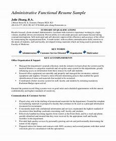 Functional Resume Template Pdf 10 Executive Administrative Assistant Resume Templates