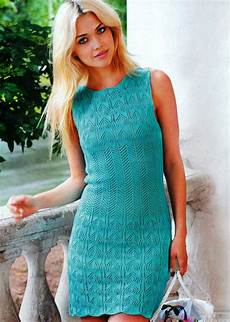 kleid im ajourmuster lace knitting