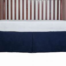 tailored crib bed skirt dust ruffle 15 inches color