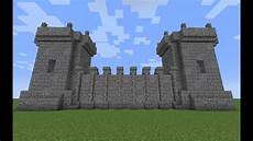 Castle Design Medieval Wall And Tower Design A Minecraft Tutorial Youtube