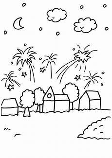 Kostenlose Malvorlagen Silvester Ausmalbild Silvester Silvester Feuerwerk 252 Ber Der Stadt