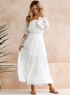sleeve white maxi dress shoulder flare sleeve lace maxi dress stylesimo