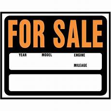 For Sale Car Sign Template Hy Ko 15 In X 19 In Plastic Auto For Sale Sign Sp 112