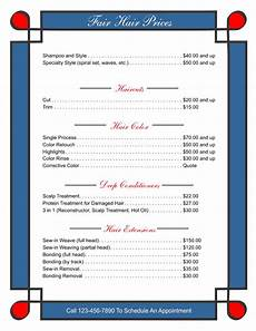 Template For Price List Price List Templates