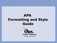 Apa Presentation Format Apa Style Presentation