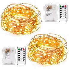 Battery Operated Led Lights With Remote Kohree 2pcs 40ft Christmas Led String Lights Battery