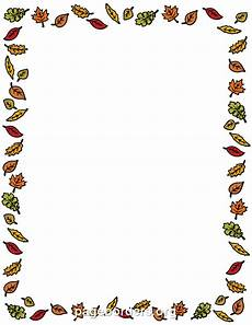 Free Fall Borders For Word Fall Leaves Border Clip Art Page Border And Vector Graphics