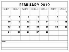 February 2020 Calendar Template Excel February 2019 Calendar Excel Printable Blank Template With