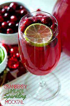 make this cranberry limeade sparkling mocktail recipe for