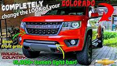 Chevy Colorado Light Bar Install Bison Grille And 15 000 Lumen Light Bar Install On My 2018