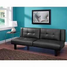 leather faux fold futon sofa bed sleeper