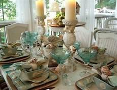 candele con conchiglie en plein air d estate idee per apparecchiare la tavola