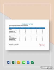 Restaurant Surveys Examples Sample Restaurant Survey Template
