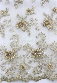embroidery fabric 2016 ivory beaded lace appliques high fashion