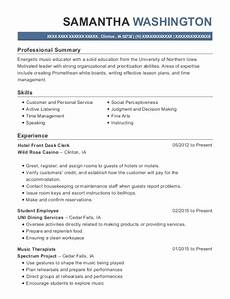 Hotel Desk Clerk Resume Hollywood Casino Hotel Front Desk Clerk Resume Sample