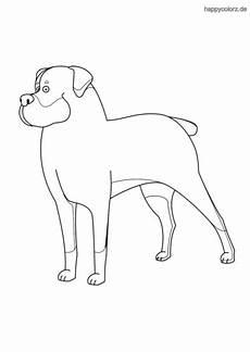 ausmalbilder hunde rottweiler kostenlos zum ausdrucken