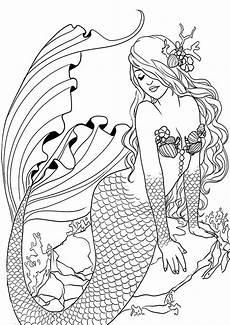 Ausmalbilder Meerjungfrau H2o Meerjungfrauen 6 Ausmalbilder Malvorlagen