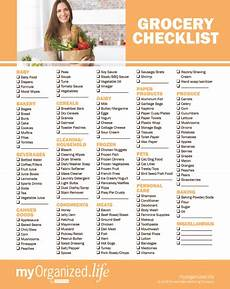 Grocery Shopping Checklist Checklist Groceries