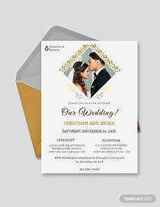 Wedding Invitation Card With Photo 25 Wedding Invitation Templates Psd Eps Png Word