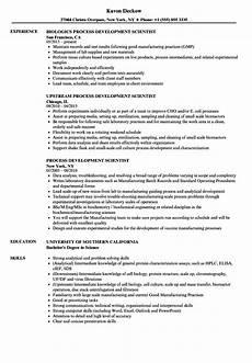 Resume The Process Process Development Scientist Resume Samples Velvet Jobs