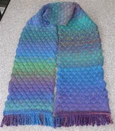 machine knitting machine knit tuck scarf
