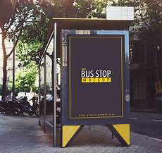 Bus Stop Poster Template Free Bus Stop Mockup On Behance
