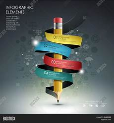 How To Make A Creative Chart Creative Template Pencil Ribbon Vector Amp Photo Bigstock