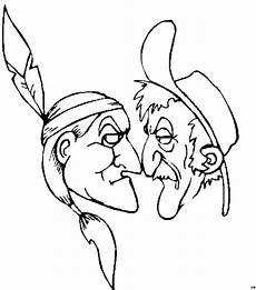 indianer cowboy stare ausmalbild malvorlage comics