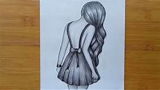 Drawing With Pencil How To Draw A Girl With Pencil Sketch Step By Step Youtube