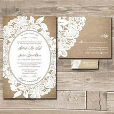 Lace Wedding Invitation Lace Wedding Invitation Suite Burlap And Lace Custom