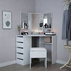 corner dressing table stool vanity set white makeup