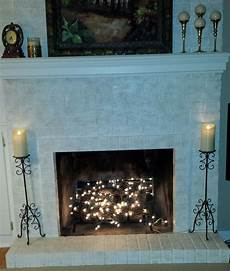 Decorate Fireplace Lighting Twinkle Lights In Fireplace In 2019 Fireplace Lighting