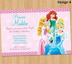 Princess Disney Invitations Birthday Princess Invitation Disney Princess Invite