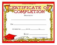 Generic Certificate Of Completion Printable Certificate Of Completion Awards Certificates