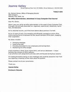 Cover Letters Administration Office Administrator Cover Letter Sample