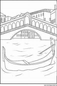 Malvorlagen Sterne Italien Rialto Br 252 Cke In Venedig Kostenlose Malvorlage