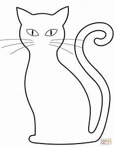 Malvorlage Schwarze Katze Black Cat Coloring Page Free Printable Coloring Pages