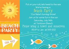 Beach Party Invitation Wording Beach Party Invitations By Jentbydesign On Etsy