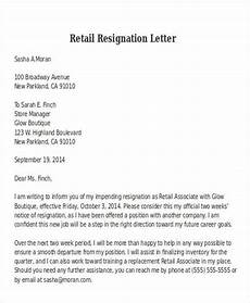 Two Weeks Notice Letter Retail Two Weeks Notice Letter Retail Letter