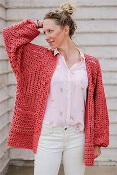 shockingly easy crochet cardigan pattern made from 2