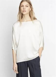 white silk sleeve blouse lyst vince silk satin envelope sleeve blouse in white
