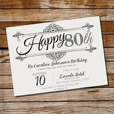 Vintage Party Invitation Vintage Frame Birthday Invitation 30th 40th 50th 60th 70th