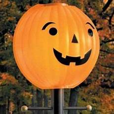 Halloween Light Covers Plastic Pumpkin Head Lamp Post Cover Outdoor Lamp Posts