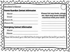 Student Information Card Template Simply 2nd Resources Student Info Card Freebie
