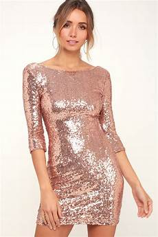 Light Gold Sequin Dress Rose Gold Sequin Dress Cocktail Dress Homecoming Dress