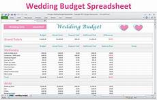 Wedding Excel Template Excel Wedding Budget Planner Spreadsheet Basic Version